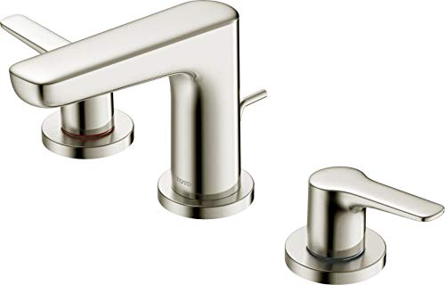 TOTO, Brushed Nickel Tlg03201u#Bn Gs 1.2 Gpm Two Handle Widespread Bathroom Sink Faucet