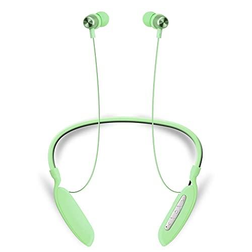 Auriculares Bluetooth 5.0 con absorción magnética, Banda para el Cuello, Auriculares inalámbricos, Deportivos, Impermeables, con cancelación de Ruido, Auriculares con micrófono, para iPhone, Samsung