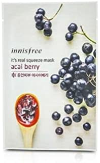Innisfree It's Real Squeeze Mask Sheet, Black Berry, 1 Ounce