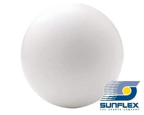 Sunflex 5 x Tischtennisball Weiß, Bier-Bong Ball, Bastel Ball Tischtennis Jumbo