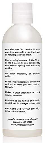 Aloe Vera Gel from Organic Cold Pressed Aloe, 8 fl. oz.