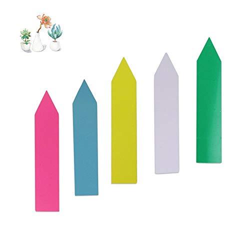 Amasawa Étiquettes de Plantes(500 Pcs),10 * 2cm Étiquette de pépinière imperméable en Plastique Multicolore Pile Étiquette de Jardin marquée réutilisable,Blanc/Rose/Jaune/Vert/Bleu 100 Chaque.