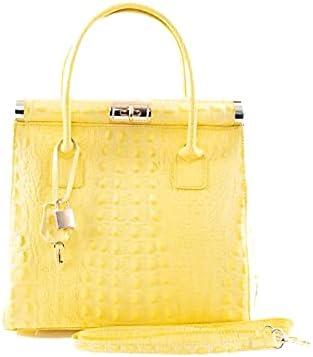 Italian Yellow Crocodile Handbag & Shoulder Bag Smaller Version