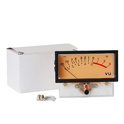 Vu-Röhrenverstärker Db-Tisch Leistungsentladung Flacher Tischmesser Vu-Meter-Treiberplatine Db-Audiopegelmesser - Schwarz + Weiß