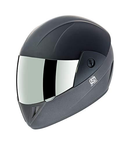 Gliders. Jazz DX Full Face Helmet (Matt Black with Mirror Visor, 580 mm)