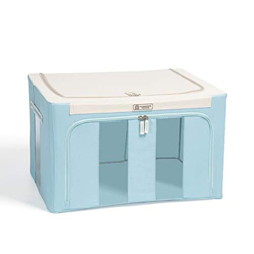 Caja de almacenamiento con marco de acero Oxford, bolsa de almacenamiento de ropa de gran capacidad, para ropa sábanas, mantas, almohadas, zapateros, contenedor organizador