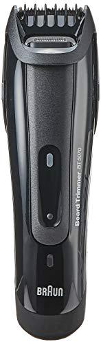 Braun Barttrimmer/Bartschneider BT5050, mit 25 Längeneinstellungen, inkl. Präzisionstrimmer, Ladestation und Etui, schwarz