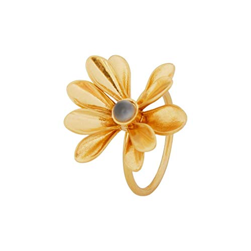 SENCE Copenhagen Couture Ring Gold-Plated Grey Size 7