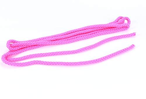 trendmarkt24 Springseil pink Hüpfseil 3m lang Ø 0,8 cm breit Sport-Seil geflochten für Fitness Spring Übungen ohne Griffe Indoor Seilspringen für Kinder ab +3 Jahre | 8578365830-A