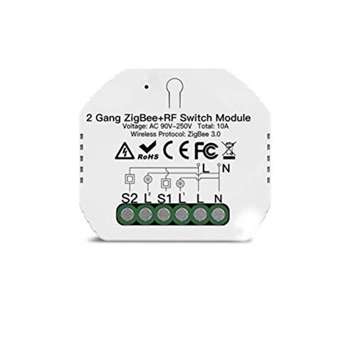 OTentW Kit de Interruptor de Luces inalámbrico Mini Interruptor Remoto WiFi Interior al Aire Libre Control Remoto Accesorio de iluminación para Luces de Techo y lámparas LED