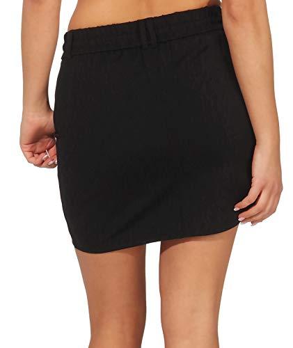 ONLY NOS Onlpoptrash Easy Skirt Pnt Noos Falda, Negro Black, 40 (Talla del Fabricante: Large) para Mujer