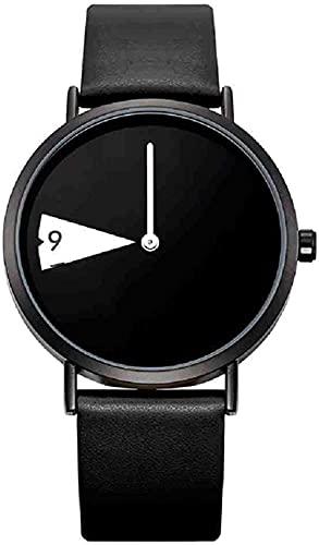 JZDH Mano Reloj Reloj Reloj de Cuarzo Relojes para Mujer Reloj Moda Creativo Cuero Casual Moda whatch Damas Barato promoción Relojes Relojes Decorativos Casuales (Color : Negro)