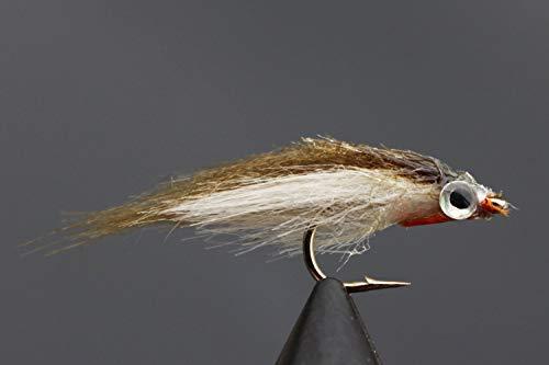 Tigofly 12 Stück Olive Polar Fry langsam sinkend Lachs Forelle Stahlkopf Elritze Fliegenfischen Köder Köder Fliegen-Set Größe #8