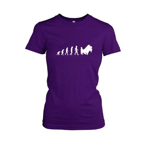 Texlab - Klavier Evolution - Damen T-Shirt, Größe XL, violett
