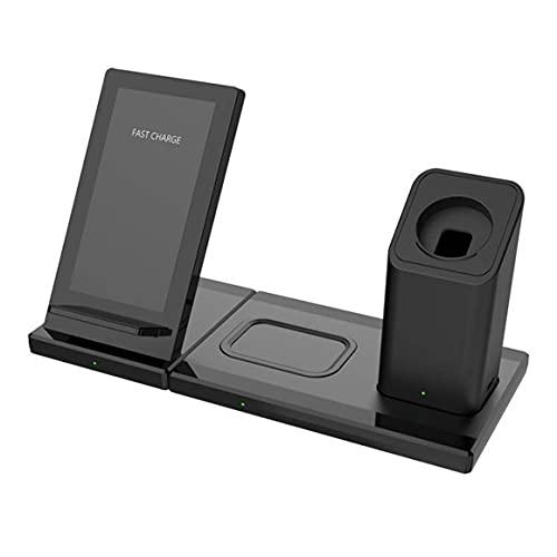 KoelrMsd Cargador inalámbrico magnético Multifuncional Tres en uno del teléfono móvil de la Carga inalámbrica de Carga rápida