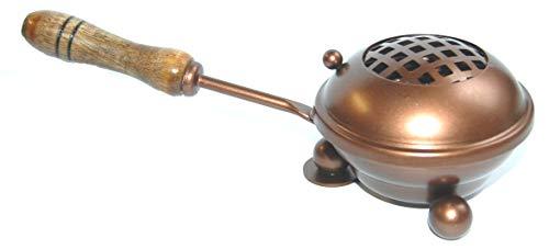 Esoterik-Versand Räucherpfanne aus Eisen in Kupferdesign, zum Verräuchern von Kräutern und Harzen