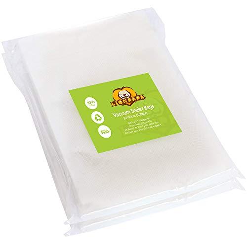 Lionpapa Bolsas de sellado al vacío 20 * 30 cm Bolsas de almacenamiento de alimentos sin...