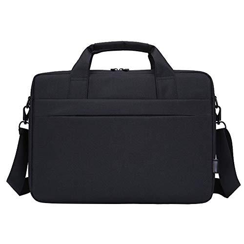 Bolsa de Hombro Compatible 15.6 Pulgadas Chromebook/Ultrabook de DELL/Lenovo, Maletín Caja Cubierta con Correa Trasera,Negro,15.6 Pulgada