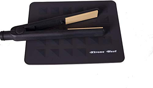 Extreme Heat - Alfombrilla de goma de silicona resistente al calor para alisadores de pelo