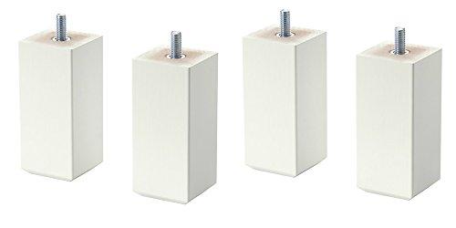 Ikea Stubbarp Möbelbeine, Weiß, 4 Stück