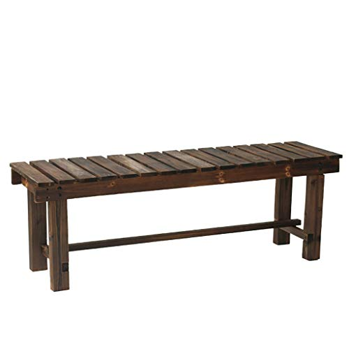 Benches Garden Solid Pine Dining Table Bench -Wooden Kitchen Dining Room Chair Bench Hallway Doorway Leisure Patio Seat (90*35*40cm , 120*35*40cm? garden bench ( Color : A , Size : 90*35*40cm )