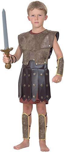 Fancy Me Garçons Enfants Historique Gladiateur Romain Guerrier Costume Déguisement - Marron, Marron, 7-9 Years
