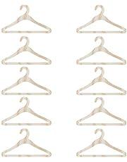 EXCEART 10 Piezas de Madera Casa de Muñecas Perchas para Niñas Vestido de Muñeca Ropa Vestido de Muñeca Accesorios de Ropa 10Cm