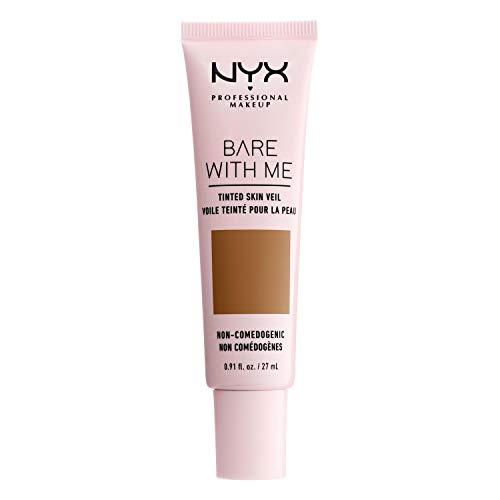 NYX Professional Makeup Bare With Me Tinted Skin Veil, BB-Creme, Feuchtigkeitsspendendes Aloe- und Gurkenextrakt, Hautpflege inspiriert, Leichte Abdeckung, Farbton: Cinnamon...