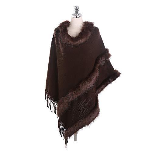 Nvshiyk Chal Pashmina Cuello de Lana de Estilo Europeo e Invierno de Invierno de Estilo Europeo y Americano. Suave cálido (Color : Dark Brown, Size : 150x50cm)