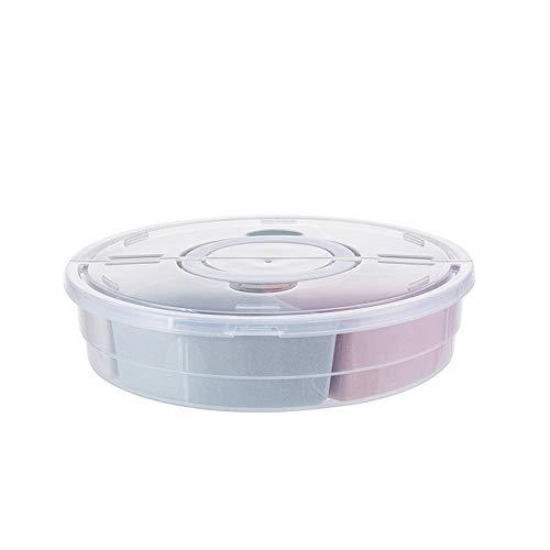 WANZSC 1 UNIDS Bandeja de plástico de Rejilla multifunción Creativa con Tapa de Drenaje Bandeja de Fruta Sala de Almacenamiento Caja de Dulces AP11161558LL (Color : Segundo)