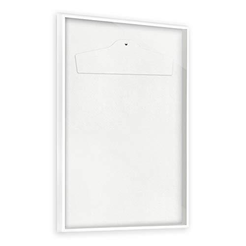 Bildershop-24 Objektrahmen Trikotrahmen VARIANTO35 inkl. Bügel und Passepartout 70x90cm Weiß matt