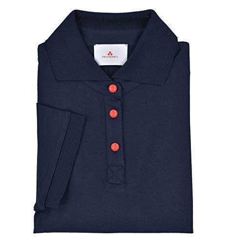 Peuterey - Donna Elf 215 Maglia T-Shirt Polo Blu Scuro - 31007-42