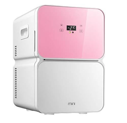 Mini Refrigerador De 22L Refrigerador De Coche Calentador Eléctrico Ultra Silencioso Mini Refrigerador De Coche Portátil Almacenamiento De Garaje Refrigerador Pequeño Refrigerador De Pantalla Digital