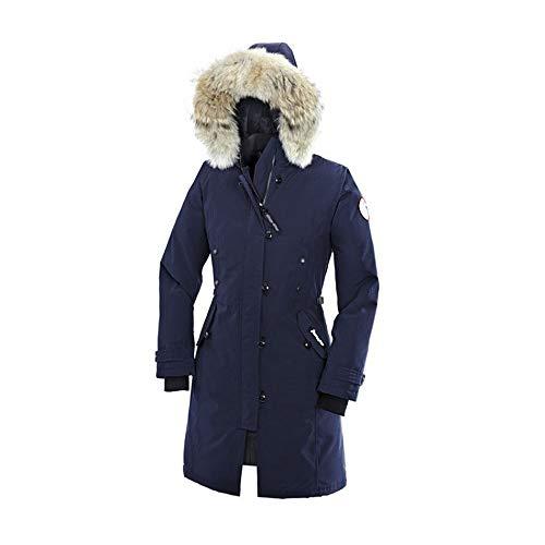 Damen Jacke Frauen Daunenmantel mit Pelz Kapuze verdicken Winter-Wasserdicht und Kälte beständig Slim Down Jacket In Langen beiläufigen Parker Wattierte Jacke (vegan hergestellt)