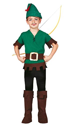 Garçons Forêt Voleur Robin des Bois TV Film Journée du Livre Déguisements Costume 5-12 - Vert, 10-12 Years, Vert