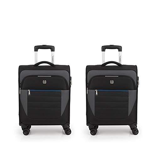 Gabol – Set of 2 Suitcases Cabin Gabol Sky Black