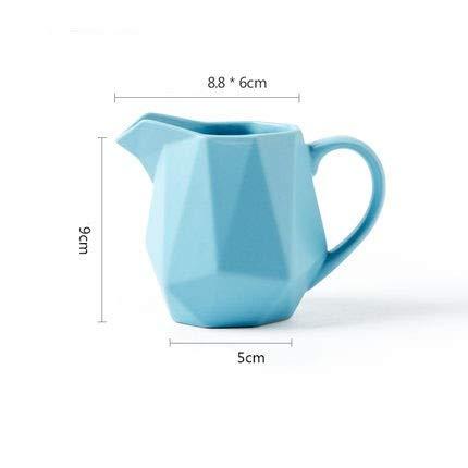 GQDZ Bouilloire nordique en céramique Petit pot à lait en losanges Petite vaisselle anglaise après-midi à thé kéla