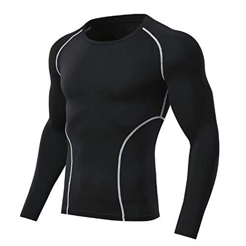 Vendita Uomo T-Shirt da Corsa per Fitness T-Shirt a Rapida Asciugatura Allenamento Maglia Sportiva Calcio Solido Sport Magliette muscolari Palestra To