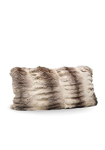 Donna Salyers' Fabulous-Furs Couture Collection Truffle Chinchilla Faux Fur Pillows (12x22 in) (Truffle) -  Fabulous Furs