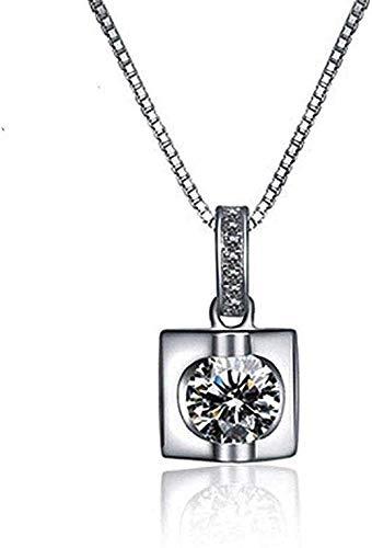 BACKZY MXJP Collar Collar Personalidad Femenina Collar Salvaje Simple Moda Prisma Triangular con Circón Super Diamante Colgante para Mujeres Hombres Regalo