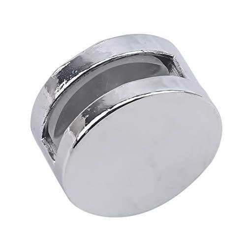 unknow sanmeiyang Glasklemme Badezimmerspiegelclips Halter Geeignet für öffentliche Badezimmer,K044 Großer runder Spiegelclip