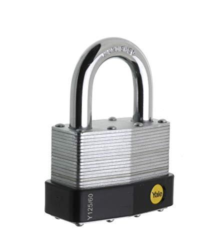 Yale Y125/60/133/1 Candado de Seguridad Arco Corto, 60 mm