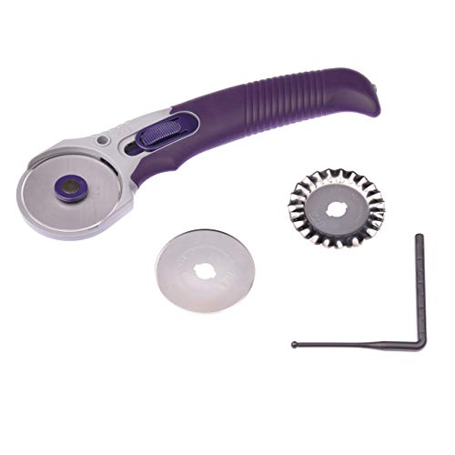 Prym Rollschneider Multi mit 3 Klingen 45 mm, Edelstahl, Violett