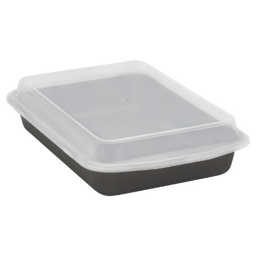 Baker's Secret Signature Oblong Cook N' Carry Pan with Plastic Cover