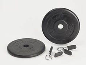 Ab Coaster 5lb Standard 1 inch Diameter Weight Set with Spring Collar (Set of 2) - 5lb weghts and...