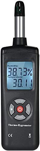 GXT Psyrometer Thermo Hygrómetro Digital, higrómetro Termo de Alta sensibilidad con Punto de rocío Humedad de la Temperatura de la Bombilla húmeda práctico (Color : Red)