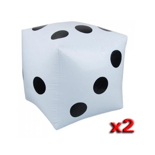 Dcolor2pcs Dados Inflables Blancos Grande Juguete Para Piscina Fiesta