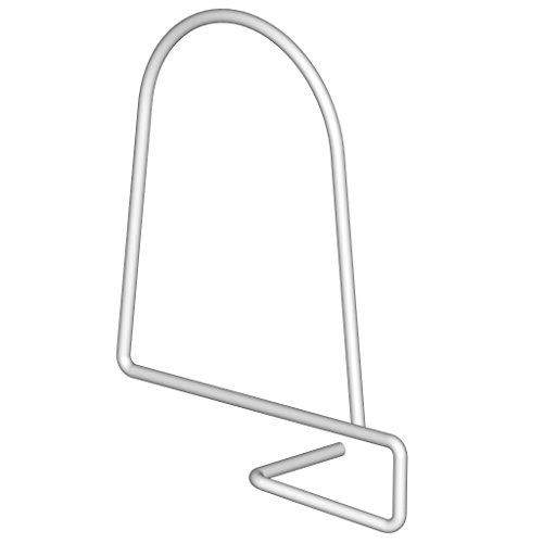 Element System 18133-00251 Buchstütze Babylon / 2 Stück/weiß/für Holzregalboden