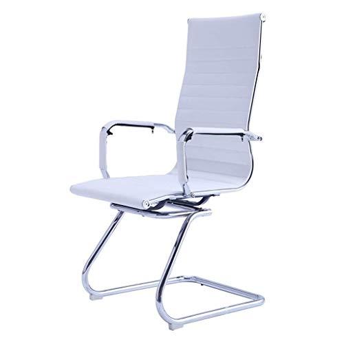 DKee. Buying Drehstuhl - Computer Stuhl zu Hause Stuhl Konferenzstuhl Lederstuhl Bürostuhl Boss Stuhl Mitarbeiter (Color : White)