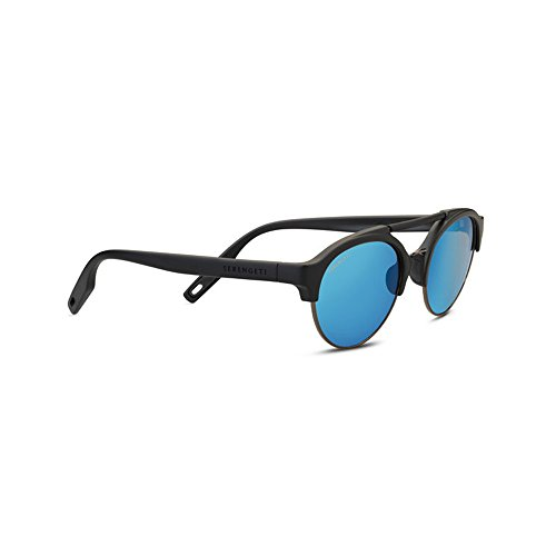 Serengeti Erwachsene Savio Sonnenbrille, Satin Black, Small/Medium